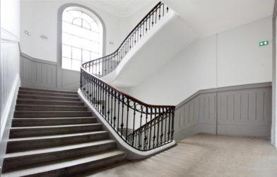 Rénovation cage d'escalier Lyon rue de seize